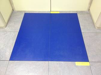 Tapis de décontamination permanente