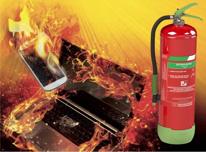 Extincteur pour feux de batterie Lithium-Ion