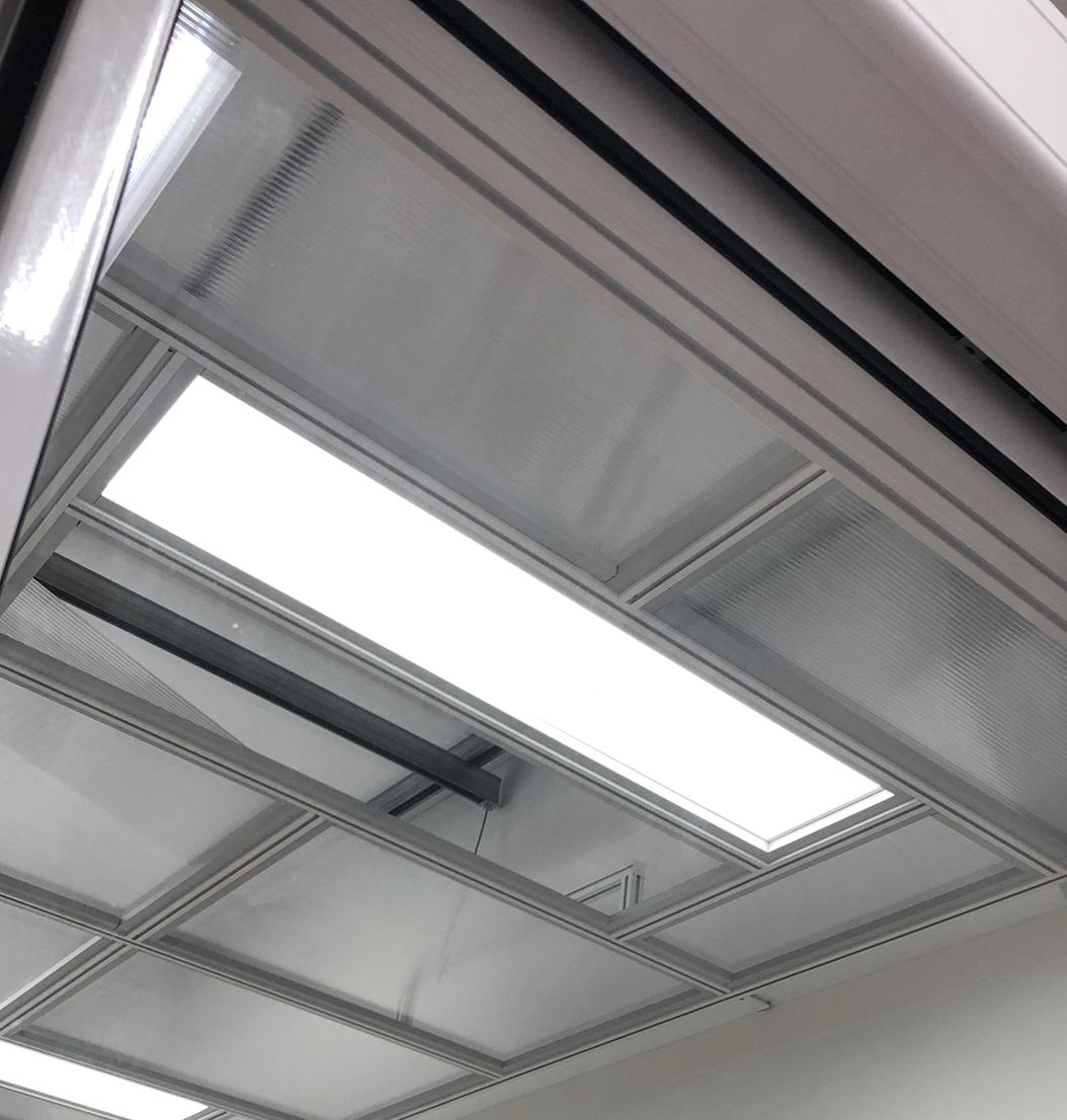 ODC - Lumière LED en data center, dalle et rampe
